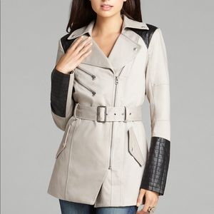 Guess Quilted Military Trench Coat